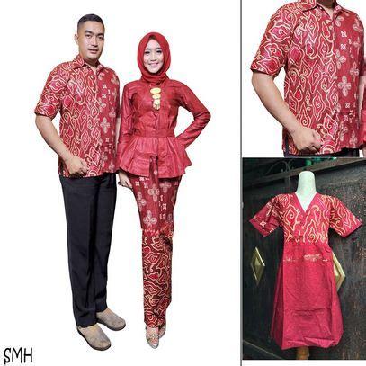 model baju muslim batik sarimbit keluarga desain modern