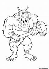 Coloring Pages Gremlins Gremlin Giant Scary Ogre Trolls Gizmo Colouring Troll Firefly Printable Characters Robot Print Creatures Giants sketch template
