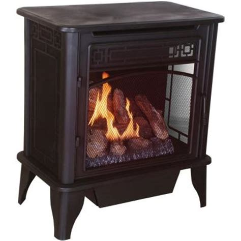 home depot gas fireplace procom 26 in vent free propane gas stove with remote