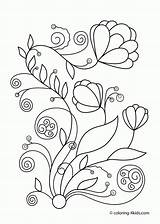 Coloring Pages Flowers Printable Clipart Spring Library sketch template