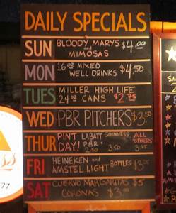 Bar Specials Part 1: The Other Place and El Gato Tea & Beer