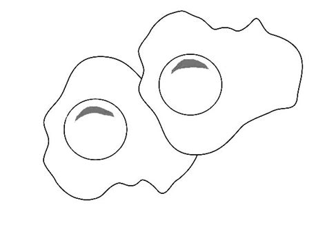 Coloring Fried Eggs by Fried Egg Coloring Page Coloring Pages