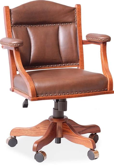 amish desk arm chair leather upholstery surrey rustic