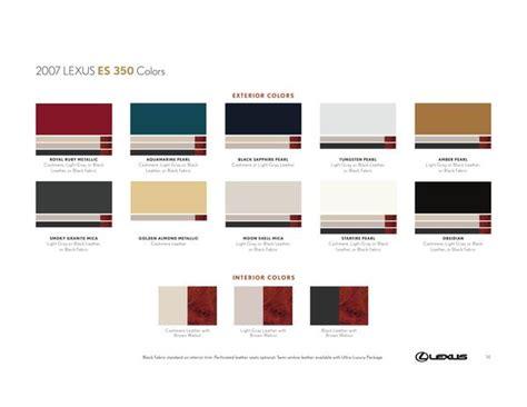 2015 lexus es 350 exterior paint colors and interior trim