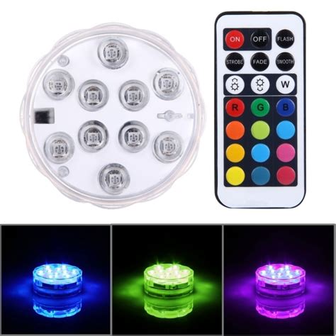 cylinder remote controlled waterproof submersible led