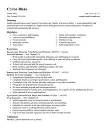 resume for concrete laborer pin general labor resume sle sles on
