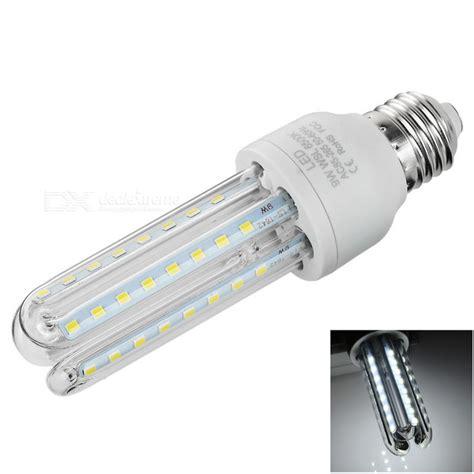 e27 9w 3u shaped led corn l white light 6500k 700lm smd