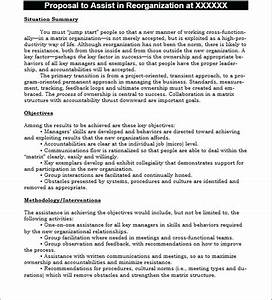 template business sale proposal template With business reorganization plan template