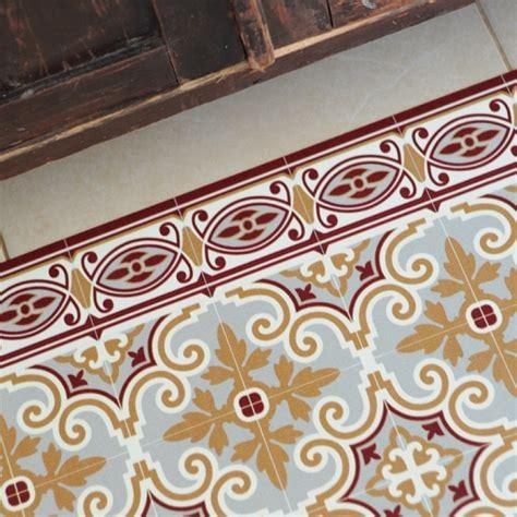 tapis vinyl jaffa bordeaux 60 x 97 cm fleux pickture