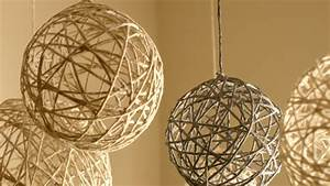 DIY Christmas String Ornaments and Lanterns - YouTube