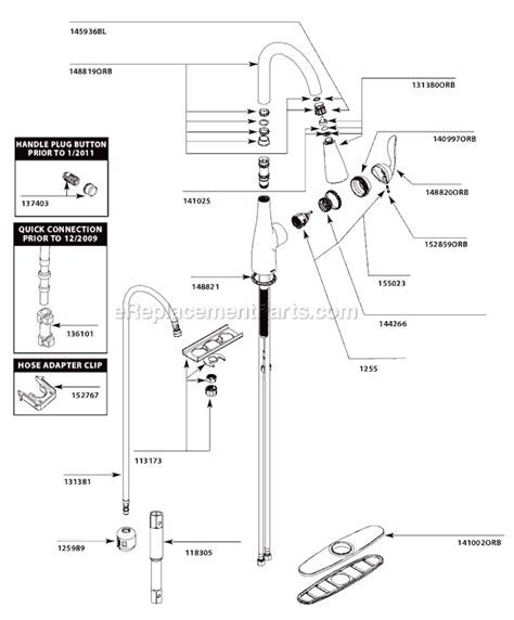 Moen 7594ORB Parts List and Diagram : eReplacementParts.com