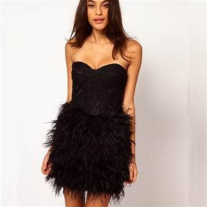robe de cocktail vestido coctel black lace feather short With robe de cocktail combiné avec bracelet noir