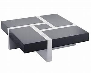 Table De Salon Alinea : table basse blanc gris design en image ~ Dailycaller-alerts.com Idées de Décoration