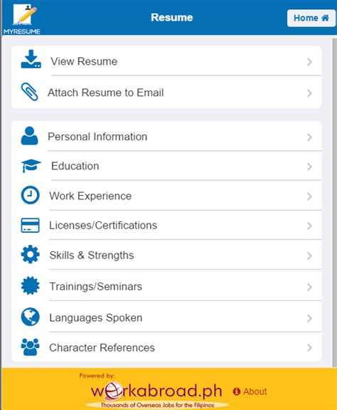 Resume Creator Android by Myresume Resume Creator Android Apps On Play