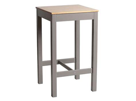 table haute cuisine conforama table haute 60x60 cm bruges coloris gris chêne vente de