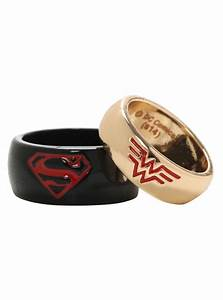 dc comics superman wonder woman his hers small ring With wonder woman wedding ring