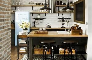 Cuisine Deco Industrielle : decoration cuisine industrielle ~ Carolinahurricanesstore.com Idées de Décoration