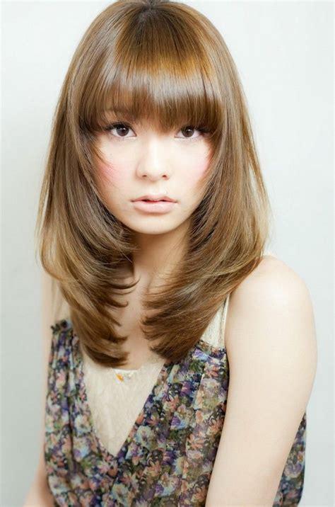 korean haircut for long hair with side bangs Google