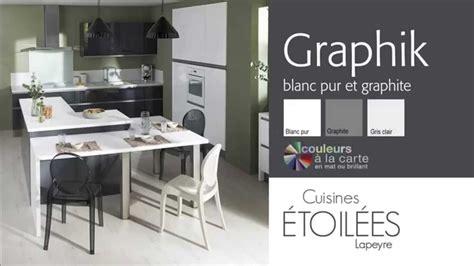 les meubles de cuisine graphik blanc pur et graphite