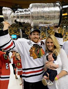Duncan Keith with wife Kelly-Rae & Stanley Cup Baby Duncan ...