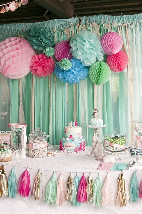 tag theme ideas for 1st birthday party for boy kara 39 s party ideas littlest mermaid 1st birthday party