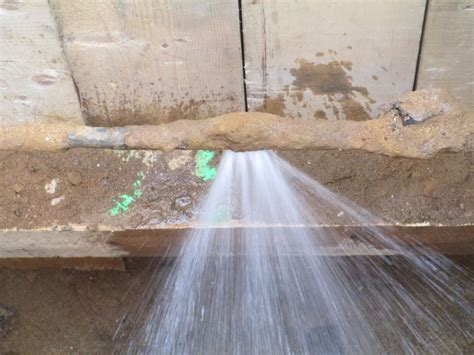 Do You Have A Broken Water Line Or Leaking Water Main