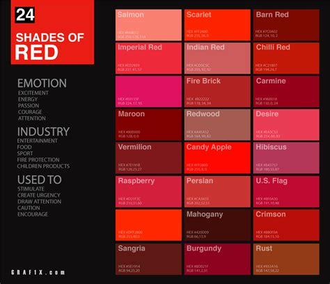 24 shades of red color palette graf1x com