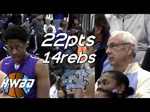 UNC Head Coach Roy Williams Watches Sterling Manley vs ...
