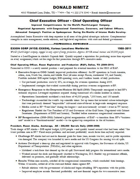 World S Best Resume Format by Resume Sles Chief Executive Officer Ceo Gas