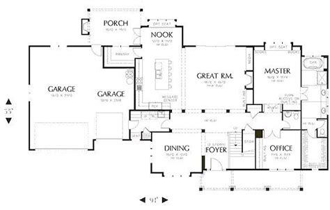 Craftsman Style House Plan 4 Beds 3 5 Baths 3463 Sq/Ft