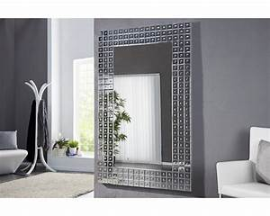 miroir design gloria en verre et galerie avec miroir With miroir salon design