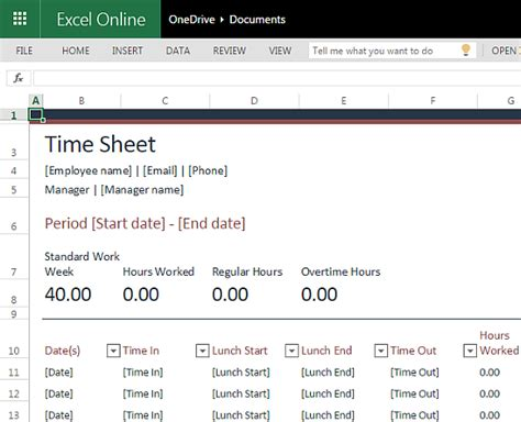 Time In Sheet Template Online Free by Free Time Sheet Template For Excel Online