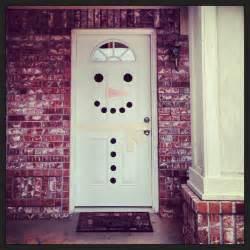 christmas snowman door decoration diy christmas pinterest