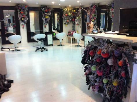 decoration de noel salon de coiffure
