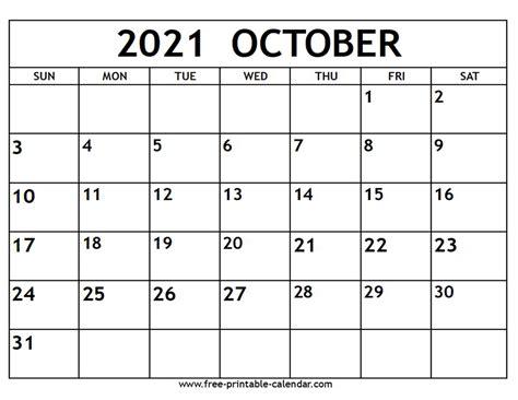 41+ Cute October 2021 Calendar Printable  Pics