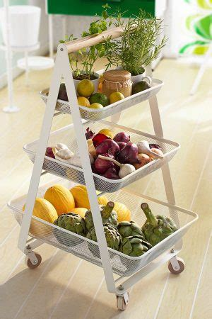 vegetable storage trolley kitchen 15 genius diy fruit and vegetable storage ideas for tiny 6755