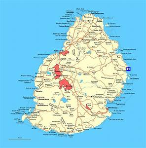 Detailed road map of Mauritius | Mauritius | Africa ...