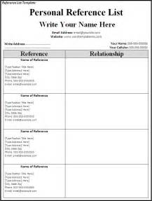 resume with personal references exle reference list template page word excel formats