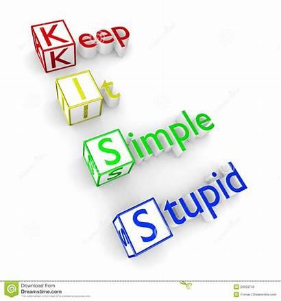 Kiss Acronym Principle Stupid Keep Simple Dreamstime