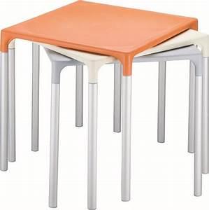 MANGO Tavoli quadrati con quattro gambe in polipropilene Tonon International srl
