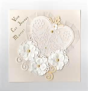carte de voeux de mariage faire part de mariage quot coeurs et fleurs quot cartes par yol
