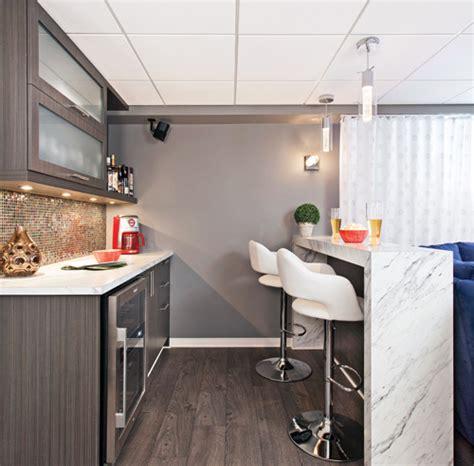 cuisine en sous sol évasion au sous sol sous sol inspirations décoration et rénovation pratico pratique
