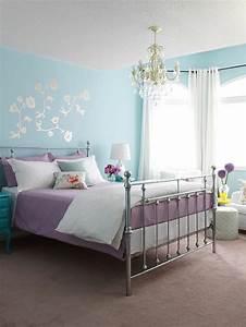 deco chambre violet et bleu ciabizcom With nuancier couleur peinture murale 17 80 idees dinterieur pour associer la couleur prune