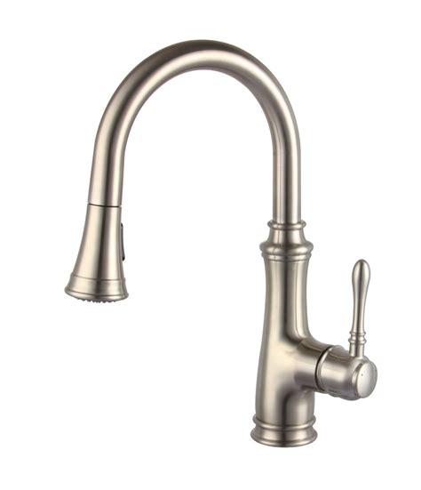 glacier kitchen faucet allora a 726 bn kitchen faucet single handle pull