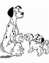 Dalmatians 101 Coloring Pages Pongo Disney Puppies Disneyclips Printable Sheets Puppy Omaľovanky Dog Funstuff sketch template