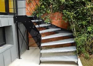 Escalier Métallique Industriel : photo dt109 esca 39 droit escalier ext rieur un quart tournant au design indu escalier ~ Melissatoandfro.com Idées de Décoration