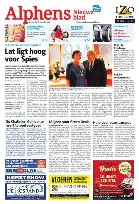 faber schouwkap issuu alphens nieuwsblad week51 by wegener