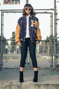 25 ways to style your varsity jacket this fall times With letter jackets and more