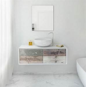 Meuble Vasque Salle De Bain Bois : meuble sous vasque salle de bain 35 solutions design ~ Teatrodelosmanantiales.com Idées de Décoration
