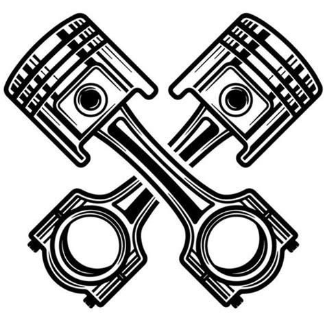mechanic logo 75 chrome piston crossed engine auto car part etsy
